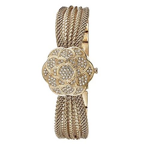 Đồng hồ nữ Anne Klein Women's AK/1046CHCV Swarovski Crystal Accented Watch 20mm