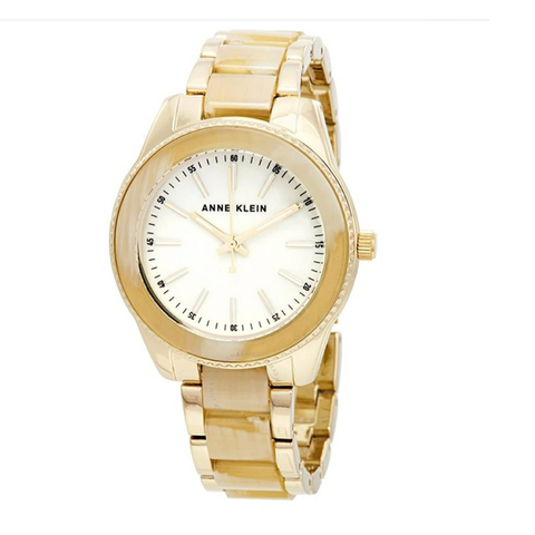 Đồng hồ nữ Anne Klein AK/3214HNGB Women's Gold-Tone and Resin Bracelet Watch Case 37mm