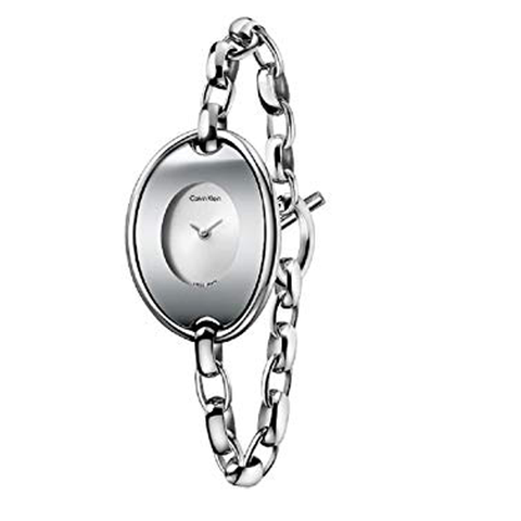 Đồng hồ nữ CK CALVIN KLEIN Distinctive Silver Dial Bangle Ladies Watch Item No. K3H23126 29mm*39mm