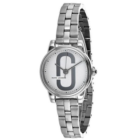 Đồng hồ nữ Marc Jacobs MJ3562 'Corie' Quartz Stainless Steel Casual Watch, Color:Silver-Toned  dây kim loại màu 28mm