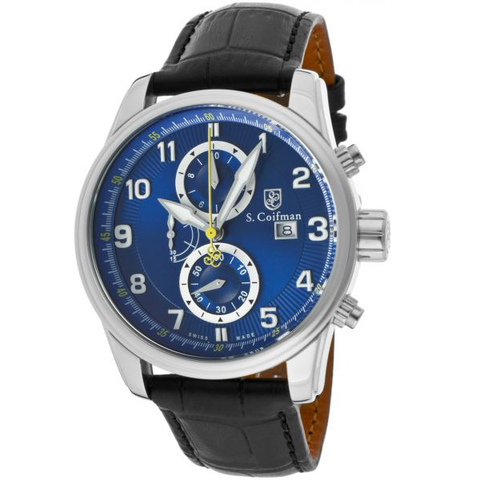 Đồng hồ nam S.Coifman SC0304 Chronograph Blue Dial Men's Watch case 43mm