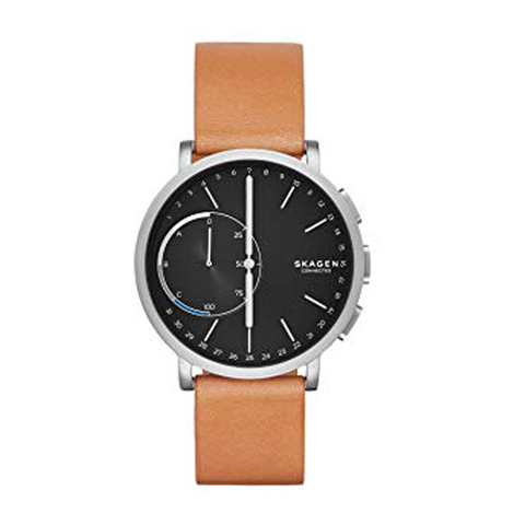 Đồng hồ nam SKAGEN SKT1104 thông minh Connected Men's Hagen Titanium and Leather Hybrid Smartwatch