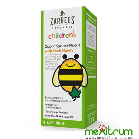 Siro ho long đờm Zarbee's  Cough syrup and mucus 118ml 12m+