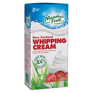 WHIPPING CREAM 1L - MEADOW FRESH