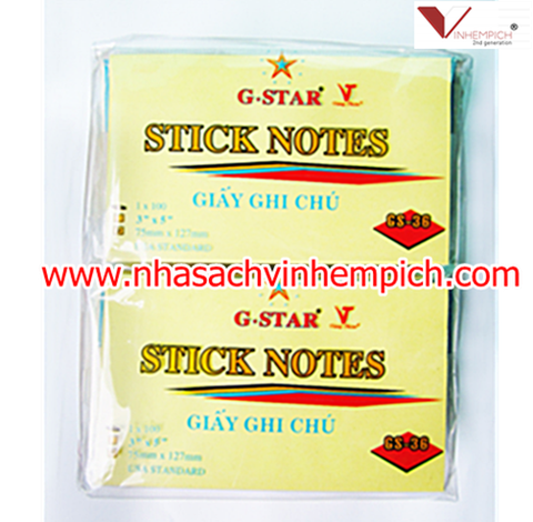 GIẤY NOTE G-STAR 3x4