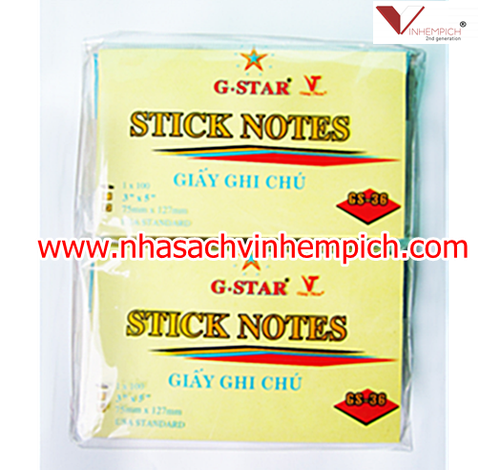 GIẤY NOTE G-STAR 3x2