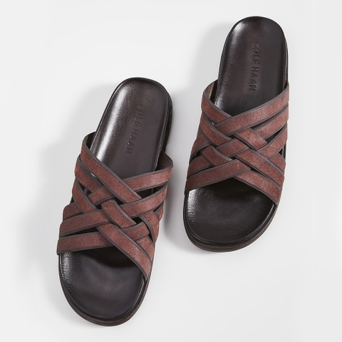 Dép Cole Haan Feathercraft Slide Sandals – Nâu