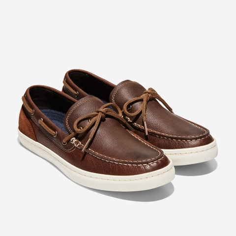 Giày Cole Haan Nantucket Deck Camp Moc Loafer – Nâu gỗ