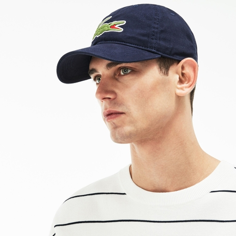 Mũ Lacoste Gabardine Big Crocodile (Navy)