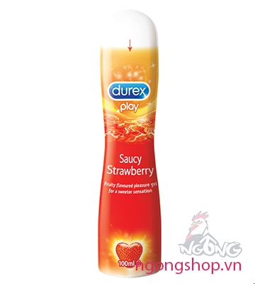 Gel bôi trơn Durex Play Saucy Strawberry vị dâu