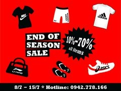 END OF SEASON - SALE UP TO 70%