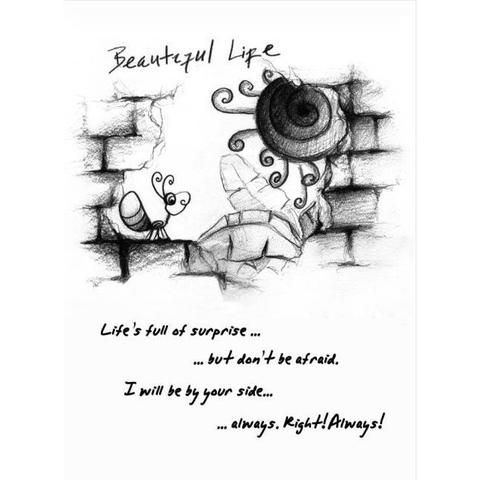Thiệp Beautiful life (10*15cm) - TH07