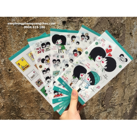 Sticker Couple (bộ 05 tờ)_S163