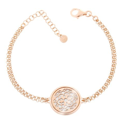 Vòng tay Orphelia Rose Gold Circle With Flower Mop