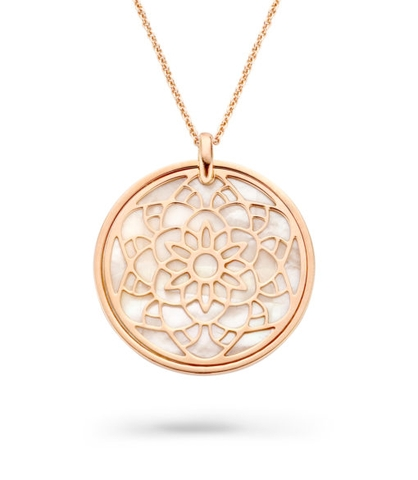 Dây chuyền Orphelia Necklace Rosegold Circle With Flower And Mop