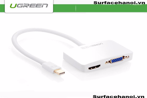 Mini Displayport to VGA + HDMI Adapter chính hãng Ugreen 10439