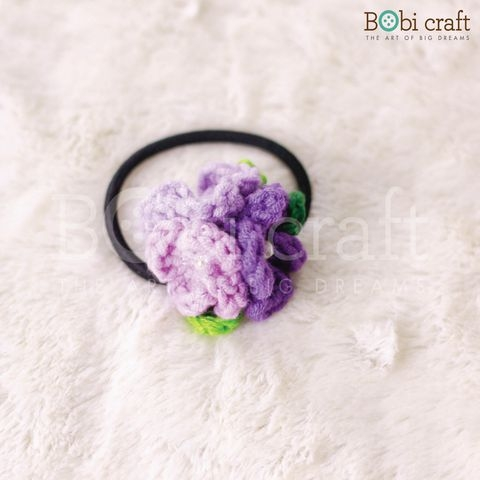 Floral Hair tie - Purple/Multi