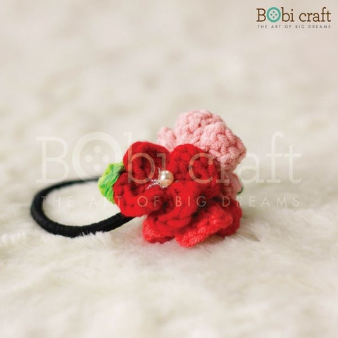 Floral Hair Tie - Red/Multi