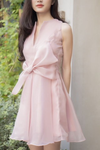 PINK BOWTIE DRESS