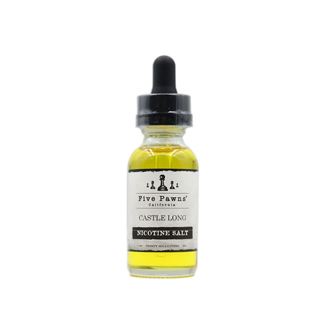 Castle Long Salt Nic by Five Pawns (30ml) (Rượu bourbon hạnh nhân)
