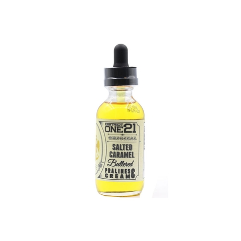 Salted Caramel by District One 21 (60ml)(Chai vỏ thủy tinh) (Caramel muối)