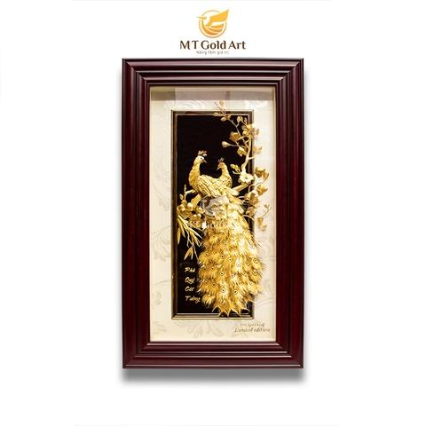 tranh đôi công dát vàng 24k - quà tặng sếp