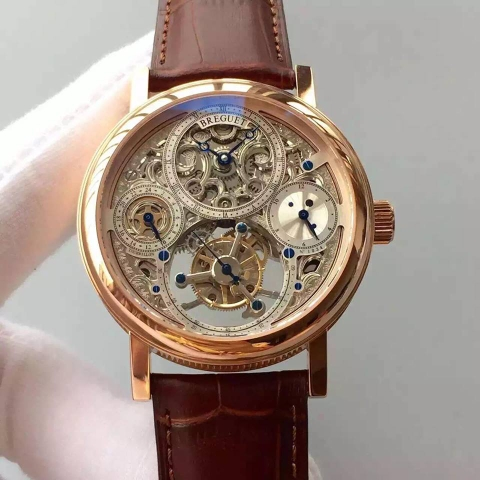 Breguet Tourbillon Perpetual Calendar Mens Watch