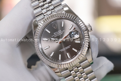 Đồng Hồ Rolex Datejust 41mm Gray Dial Steel Jubilee