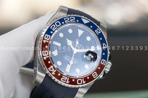 Đồng hồ Rolex GMT Master II Pepsi 126710 Dây Cao Su Rubber-B