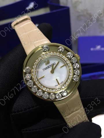 Swarovski Lovely Crystals Light Gold Tone Watch  5027203