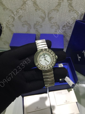 Swarovski   Lovely Crystals White Watch 1160307