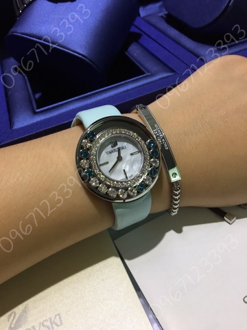 Swarovski lovely crystals ice blue 35mm Watch 304206