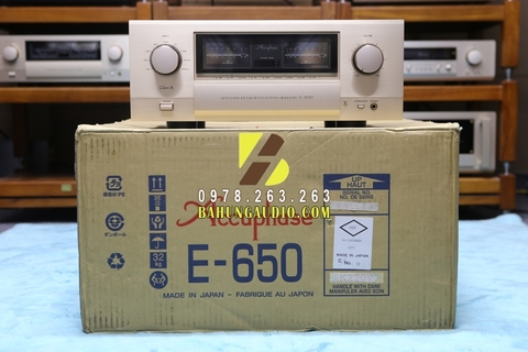 Amply Accuphase E650 mới 99,9%