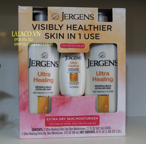 Bộ dưỡng thể Jergens Ultra Healing Made in USA