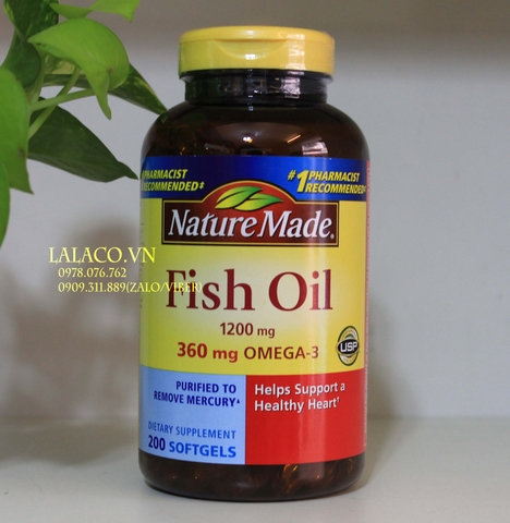Nature Made Fish Oil 1200 Mg 200 viên