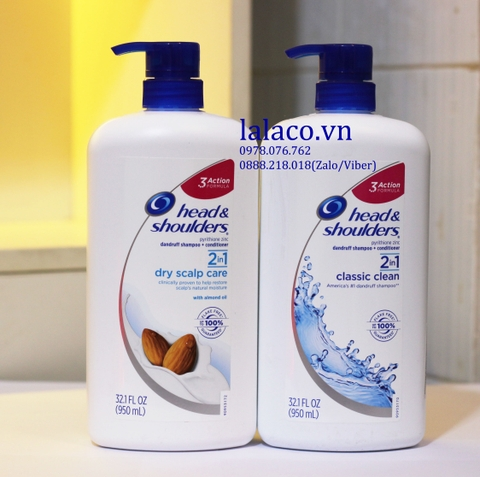 Dầu gội Head & Shoulders 2in1 Dry Scalp Care 950ml