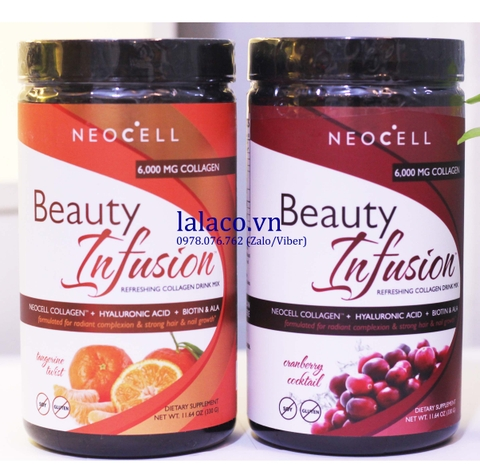 Bột Neocell Collagen Beauty Infusion 6000mg
