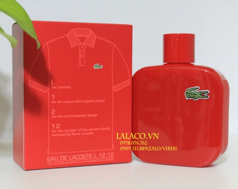 Nước hoa Nam Lacoste L.12.12 Rouge Red 100ml
