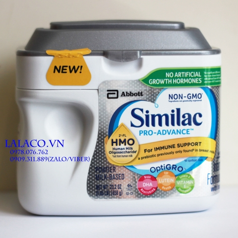 Sữa Similac Pro-Advance (HMO) Non-GMO Infant Formula Powder 658g Mỹ