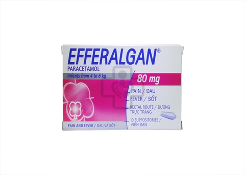 Efferalgan 80mg Suppositories