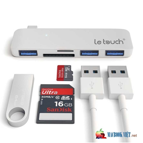 Le Touch USB - C Combo HUB 5 in 1 Cho Macbook