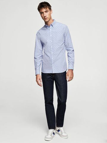 Áo Sơ Mi Tay Dài Scotch and Soda Dot Pin Shirt