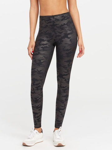Quần Legging Nữ Faux Leather Camo Leggings