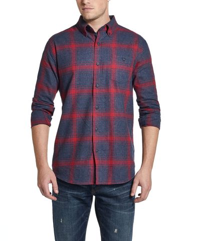Áo Sơ Mi Nam Ca Rô Weatherproof Vintage Brushed Flannel Plaid Shirt