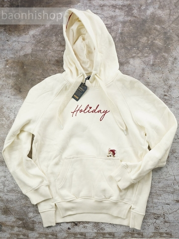 Áo Hoodie Nữ E.land Fleece Hoodies Holiday