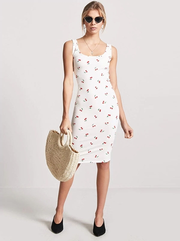 Đầm Forever21 Cherry Graphic Bodycon Dress