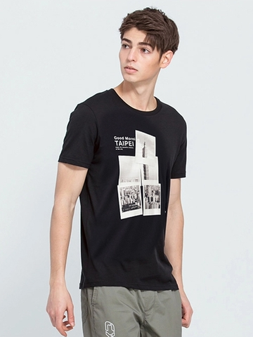 ÁO THUN ANNCLIFF WITH SHORT - SLEEVE CITY PRINTED T-SHIRT