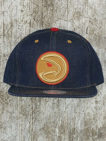 Mũ Nón Snapback Mitchell and Ness Memphis Grizzlies Denim Strapback
