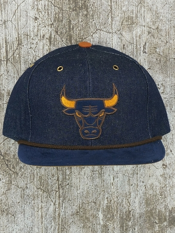 Mũ Nón Snapback Mitchell And Ness Chicago Bulls Denim Snapback
