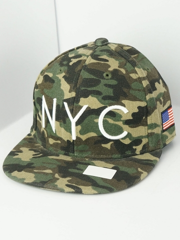 Mũ Nón Snapback Flash Report NYC Camo Snapback